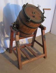 19 century butter churner used to make cultured butter